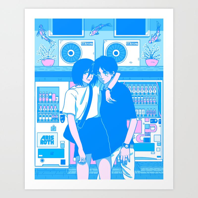 Shibuya Summer Break Aesthetic Anime Interpretation Aot Art