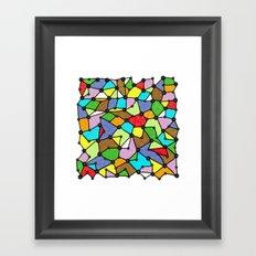Yzor pattern 130001 Connexions  Framed Art Print