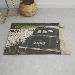Citroën traction avant, Apulia photography, vintage car, old cars, sports car, Puglia photography Rug