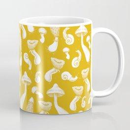 Ink Mushrooms - mustard Coffee Mug