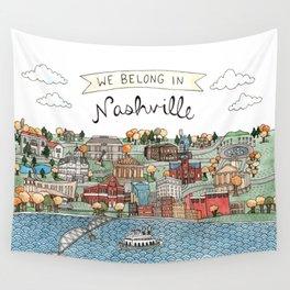 We Belong in Nashville Wall Tapestry