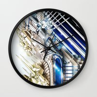 sci fi Wall Clocks featuring Sci-Fi Series 1 by eos vector