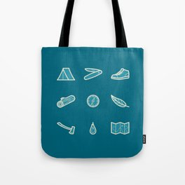 Outdoor Icons Tote Bag