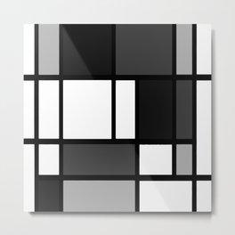 Gray Mondrian Metal Print