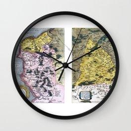 Caletensium et Bononiensium Ditionis Accurata Delinatio by Ortelius - 1579 Wall Clock