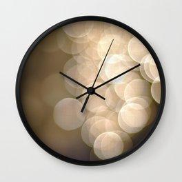 Christmas Bokeh 1 Wall Clock