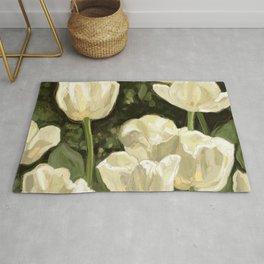White Tulips I Rug