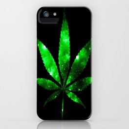 Weed : High Times green Galaxy iPhone Case