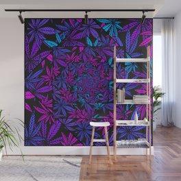 Purple Kush Paradise Kaleidoscope Wall Mural