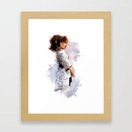 Karate Girl Framed Art Print