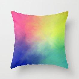 Rainbow aura Throw Pillow