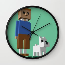 Tintin voxel tribute Wall Clock