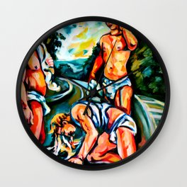 Narcissus in ecstasy Wall Clock