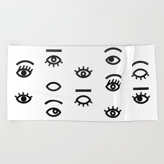 eyes II Beach Towel