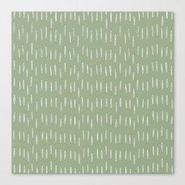 Raindrop Boho Abstract Pattern, Sage Green Canvas Print