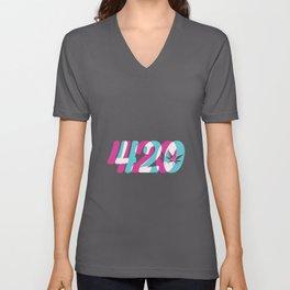 420 | Smoke Weed Cannabis Pot Gift Ideas Unisex V-Neck
