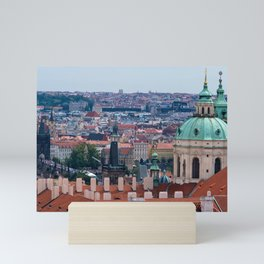 St. Nicolas church and roofs of Prague Mini Art Print