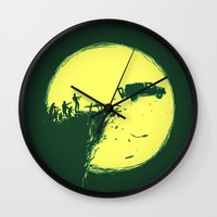 zombie Wall Clocks featuring Zombie Invasion by Picomodi