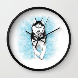 Siberian Husky Wall Clock