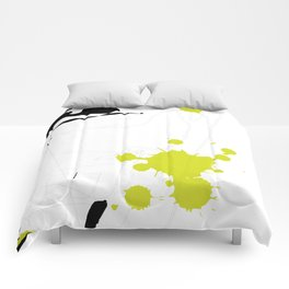 Lime Green Abstract Rick Genest Comforters