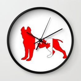 "Pit Bull Terrier ""Canada"" Wall Clock"
