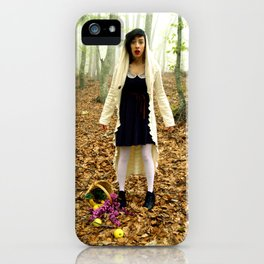 the little red riding hood iPhone Case