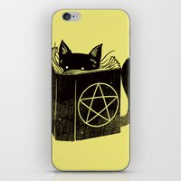 witchcraft iPhone & iPod Skins featuring Witchcraft Cat by Tobe Fonseca