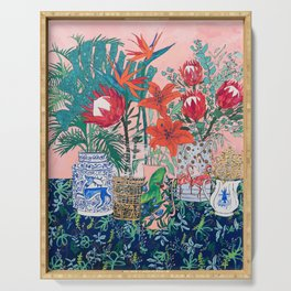 The Domesticated Jungle - Floral Still Life Serving Tray