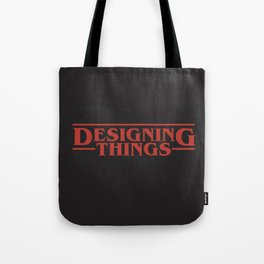 Designing Things (Solid Red Text) Tote Bag