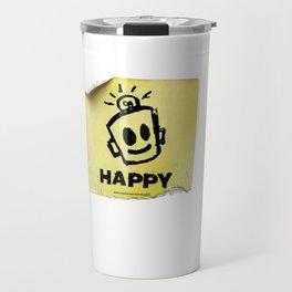 The Happy Sticker Travel Mug