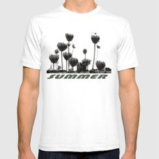 Summer Mens Fitted Tee White SMALL