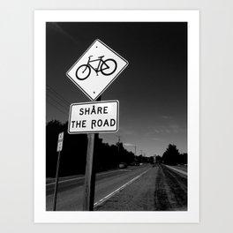 Share The Road  Art Print