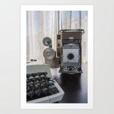 Polaroid antique flavor (sepia) Art Print
