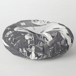 M. C. ESCHER - HELL (AFTER HIERONYMOUS BOSCH) Floor Pillow