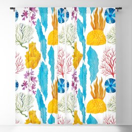 Coral Reef Plants Blackout Curtain
