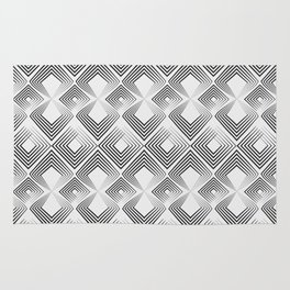 Black and light gray art Deco . No. 59 Rug