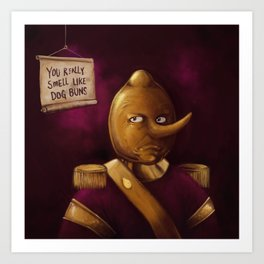 Earl of Lemongrab Art Print