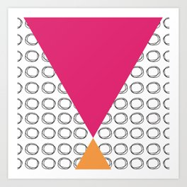 Abstract Circles and Triangles Art Print