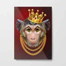 The King of Monkeys Metal Print