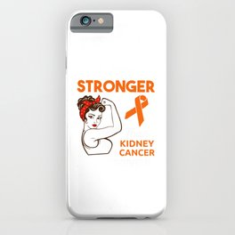 Kidney Cancer Awareness design Gift iPhone Case