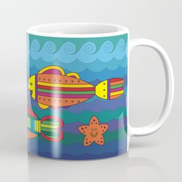 Stylize fantasy fishes under water. Coffee Mug