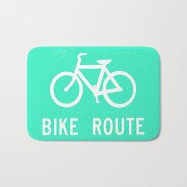Bike Route Bath Mat