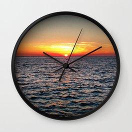 summer sunset at peroj beach croatia istria Wall Clock