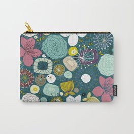 oriental blooms peacock Carry-All Pouch