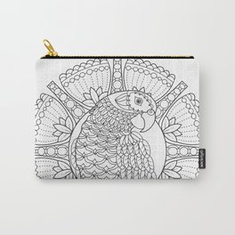 Parrot Mandala - Color Your Own Coloring Art Carry-All Pouch