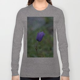 Lone Blue-Purple Anemone Long Sleeve T-shirt