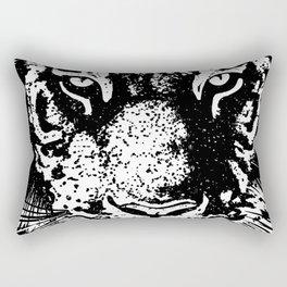 Stare tiger head Rectangular Pillow