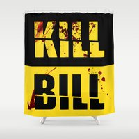 kill bill Shower Curtains featuring Kill Bill by Melis Kalpakçıoğlu