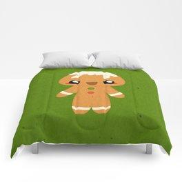 Christmas Card - Gingerbread Kid Comforters