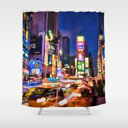 You Will Never Forget: Times Square, New York City Shower Curtain